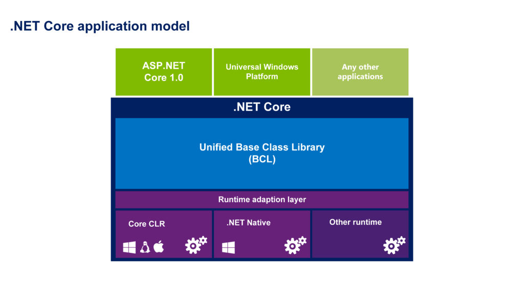 .NET Core application model