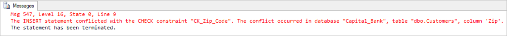 CK_Zip_Code error