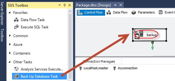 Figure 3. Back Up Database Task