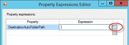 Figure 6. Using Expressions for task properties