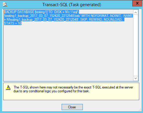 Figure 9. T-SQL code