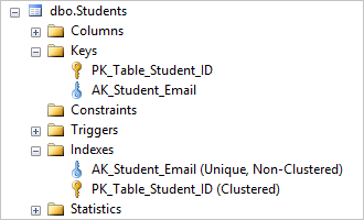 dropping the AK_Student_Login unique constraint deletes its corresponding index