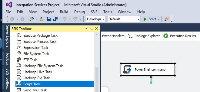 Execute Powershell in SSIS Using C#
