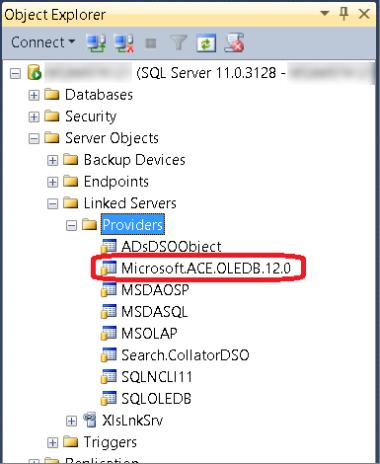 32-bit Excel and 64-bit SQL Server