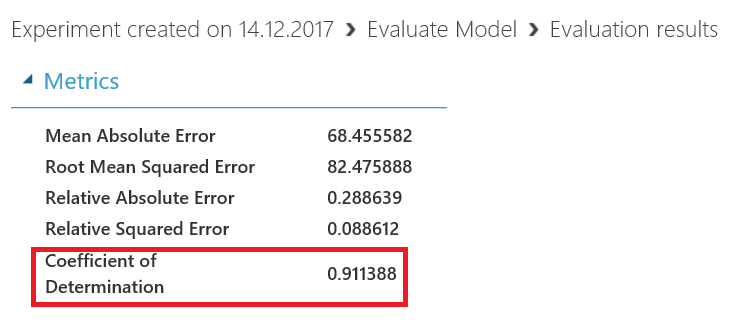 add the Evaluate Model component