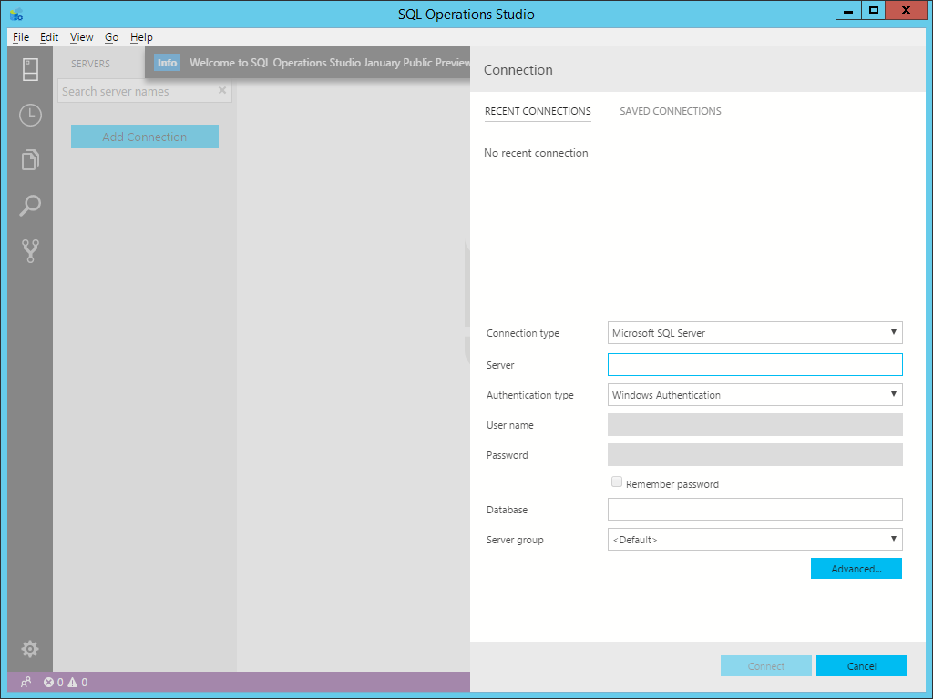 Microsoft Sql Operations Studio Configuration And Querying