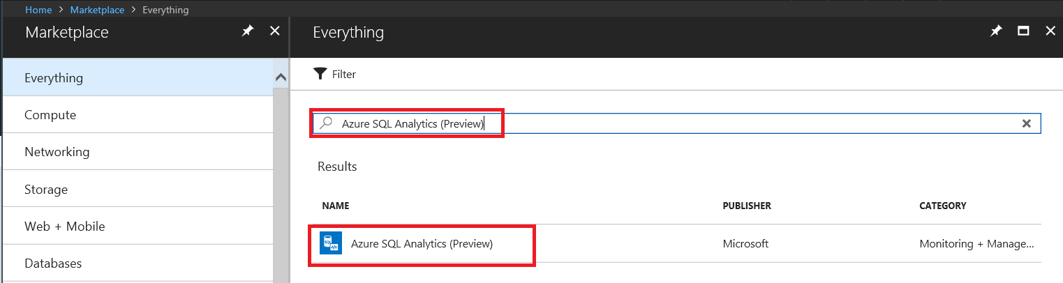 Azure SQL analytics