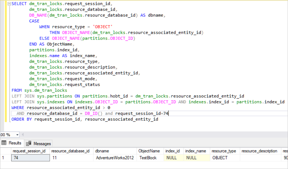 SQL Server creates the exclusive lock on the table