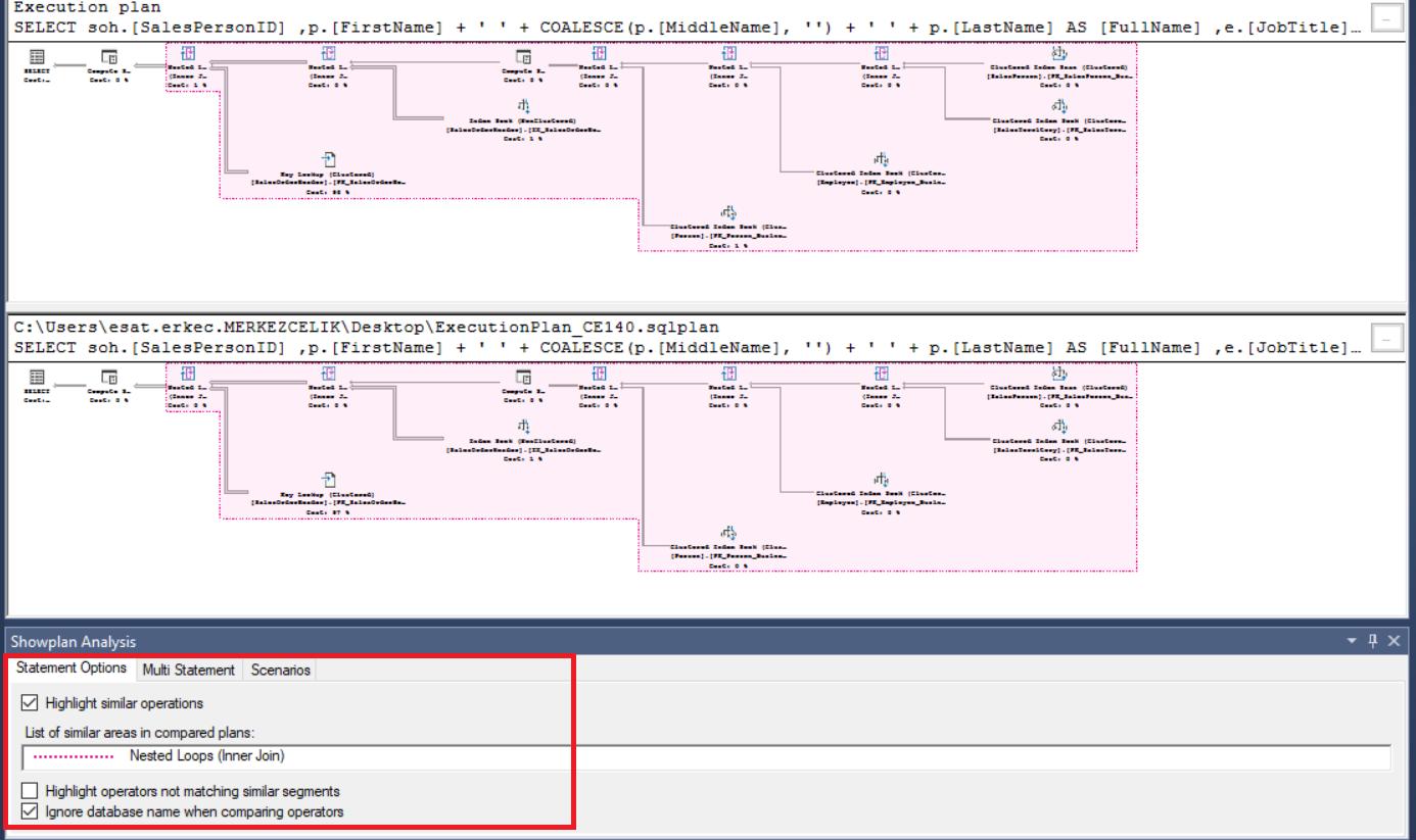 execution plan in sql server management studio