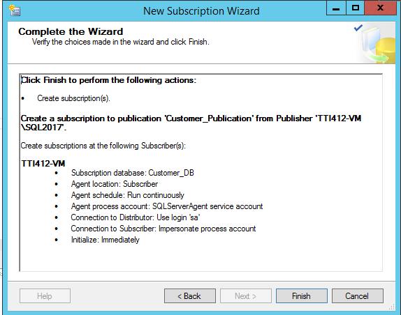 Transactional Replication SQL Server