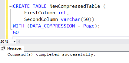 Data Compression in SQL Server