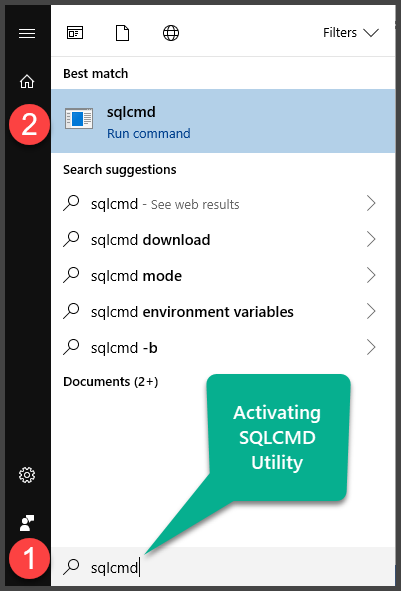Activating SQLCMD utility