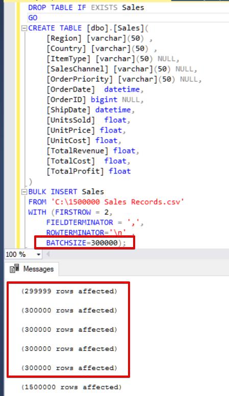 SQL Server Bulk Insert – Part 1   {coding}Sight