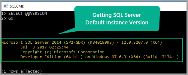 Default instance version