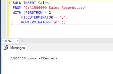 SQL Server Bulk Insert – Part 1 | {coding}Sight