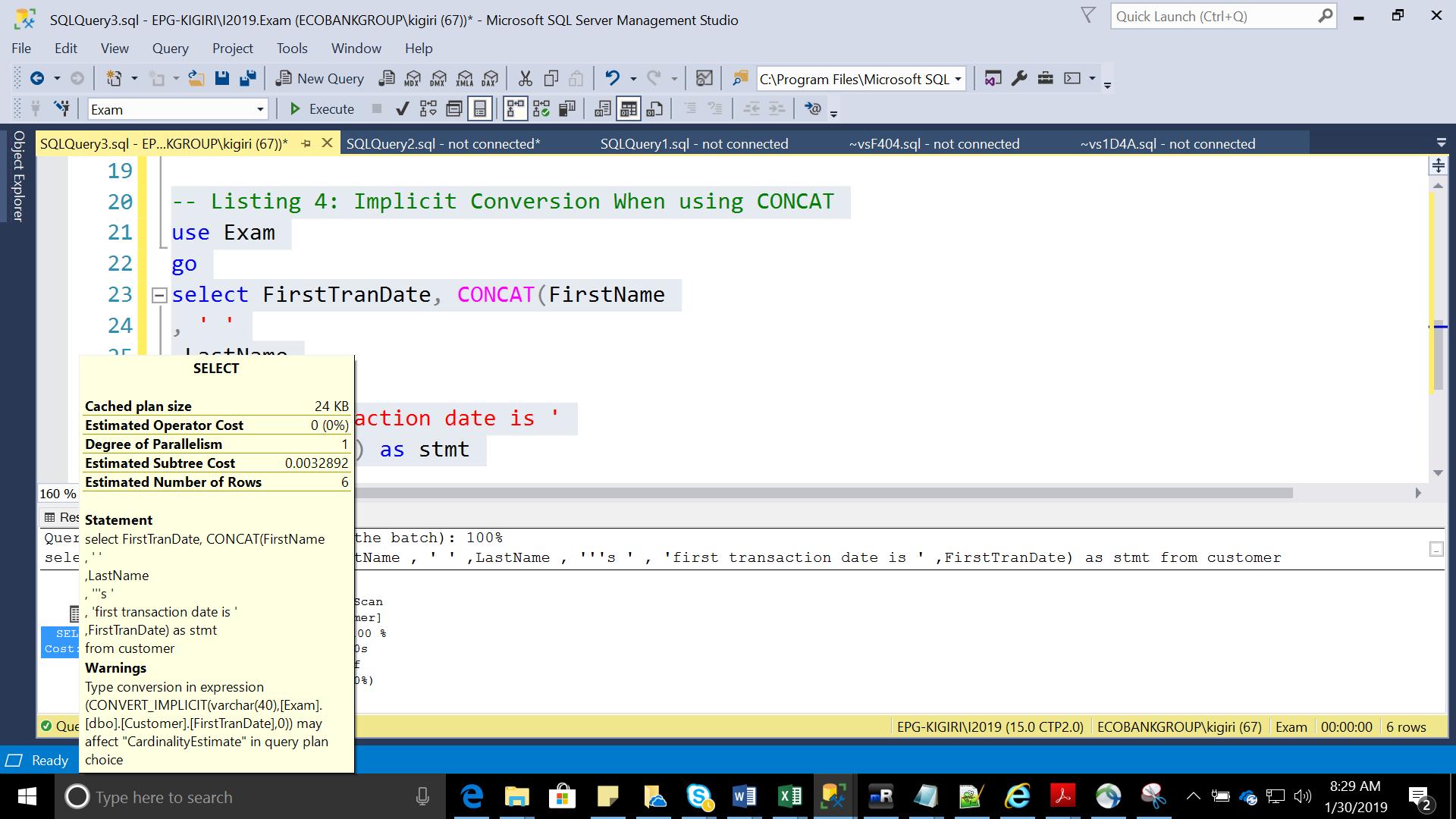 Concatenation in Transact-SQL | {coding}Sight