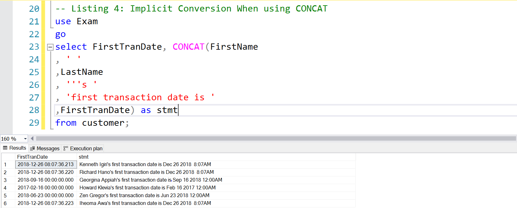 Implicit Conversion of DATETIME