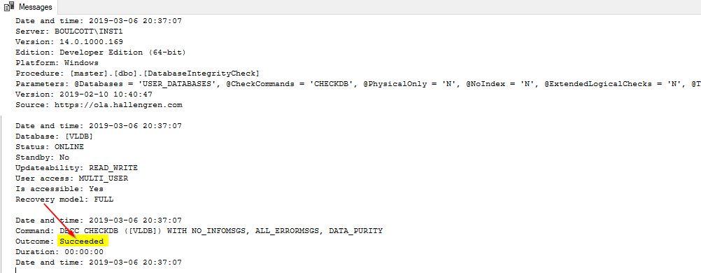 DBCC CheckDB run on user databases