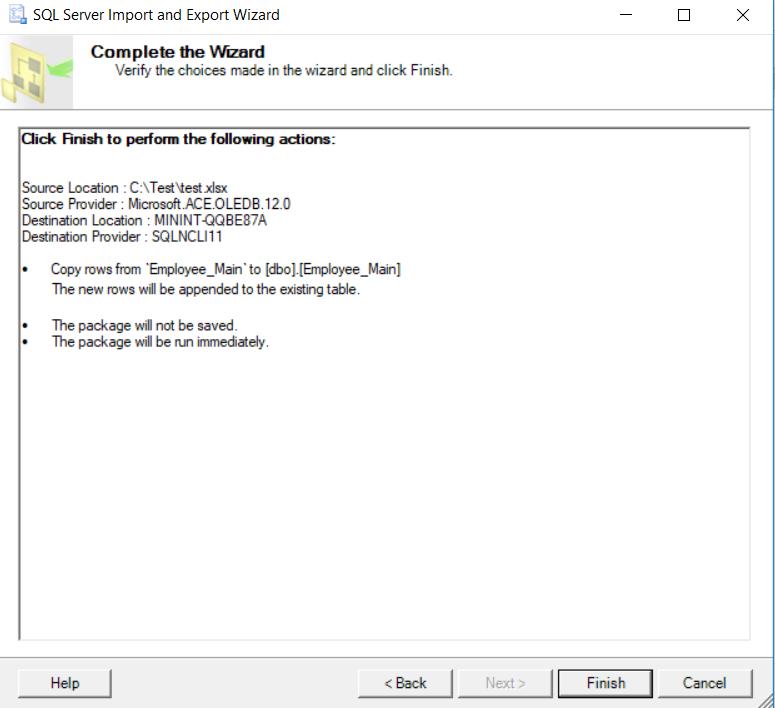 SQL Server Wizard - Import 7