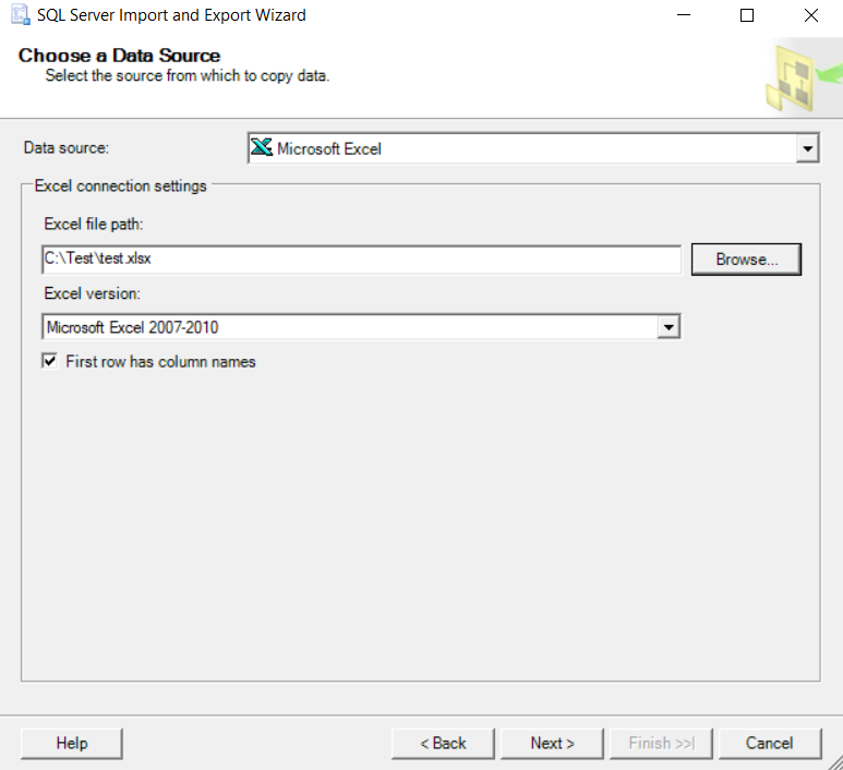 SQL Server Wizard - Import 2