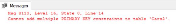 Primary Key vs Unique Key Error 3