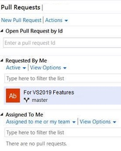 Visual Studio 2019 Pull Request 2
