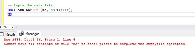 Empty data file