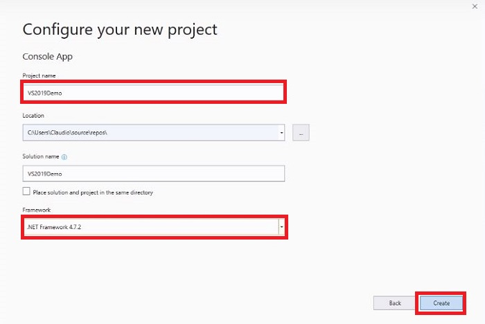 Visual Studio 2019 Project Example 2