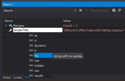 Visual Studio 2019 Debugger Search 2