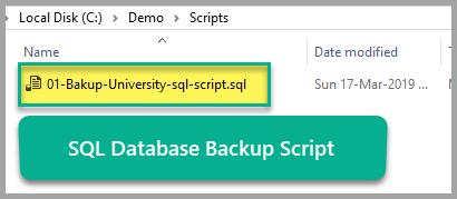 SQL database backup script