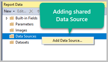 Using the Shared Data Source