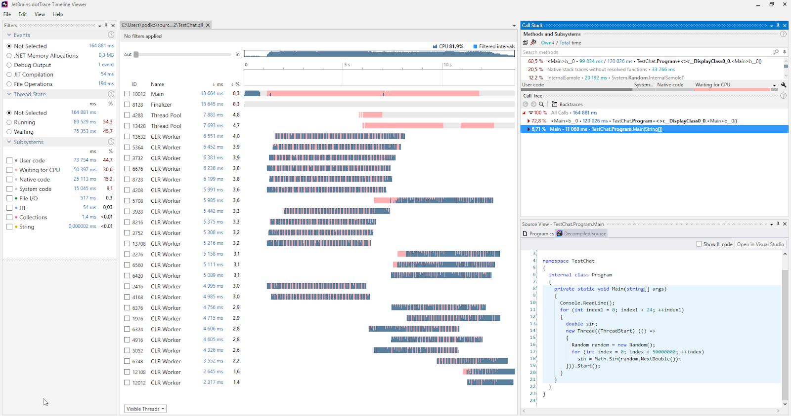 dotTrace Profiler Example