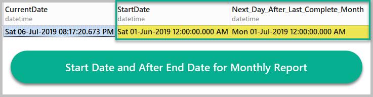Calculating Start Date