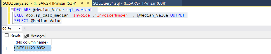 Calculate the Median with a Custom Function 2
