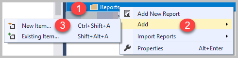 Add New Report With Parameter 1