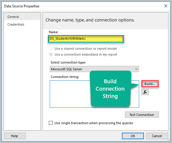 Build Connection String