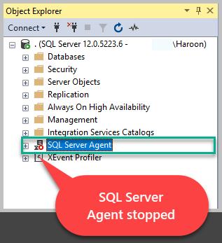Stopped SQL Server Agent