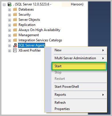 Start SQL Server Agent 1