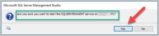 Start SQL Server Agent 2