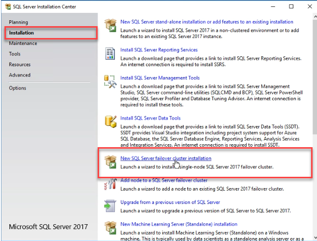 SQL Server Installation Wizard