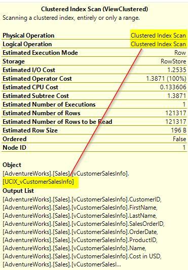 Clustered Index Scan Operator Details