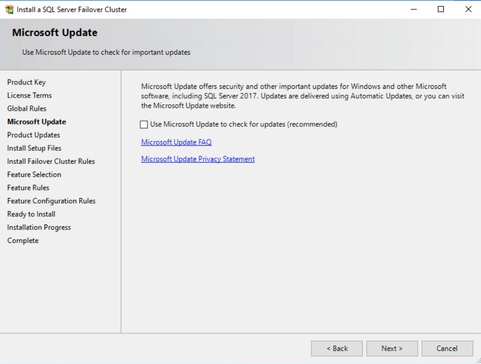Microsoft Update Tab