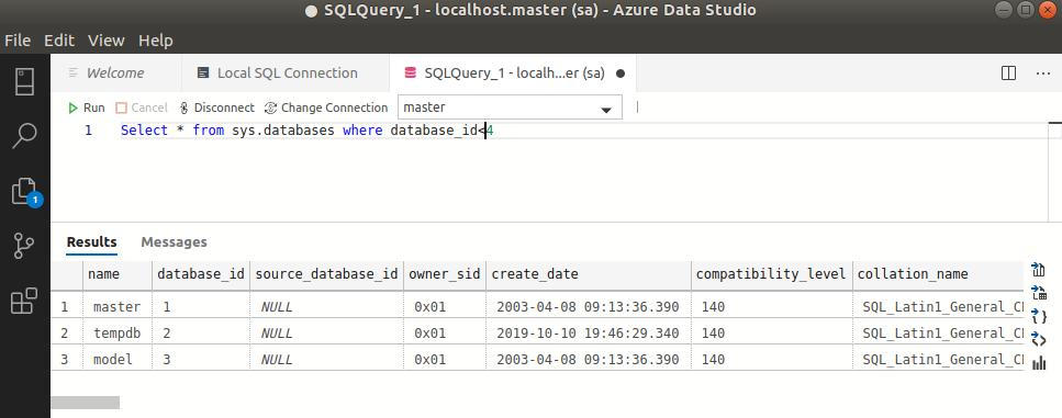 Azure Data Studio - Execute Query