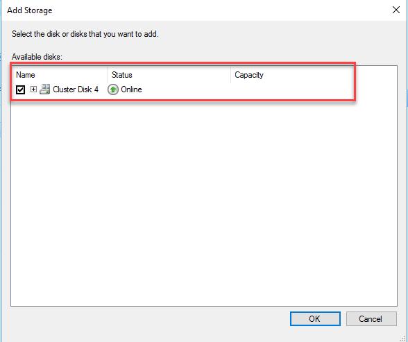 Add Storage Dialog Box