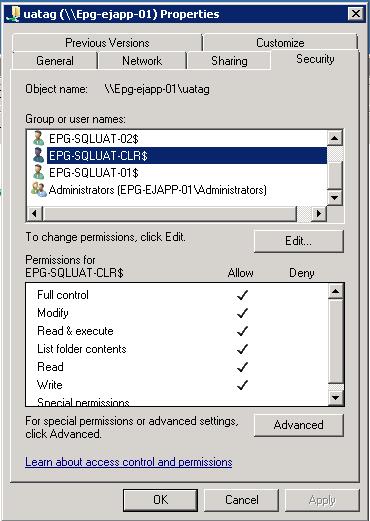 File Share Permissions