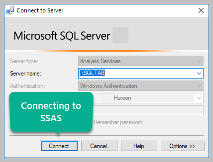 Connecting to SSAS