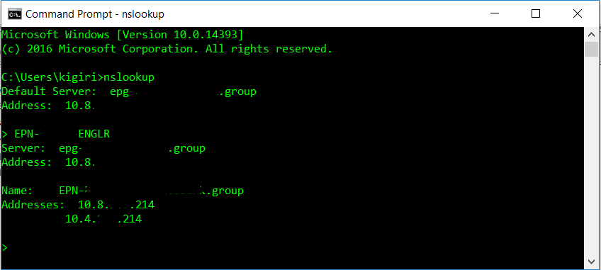 Listener Properties - Command Prompt