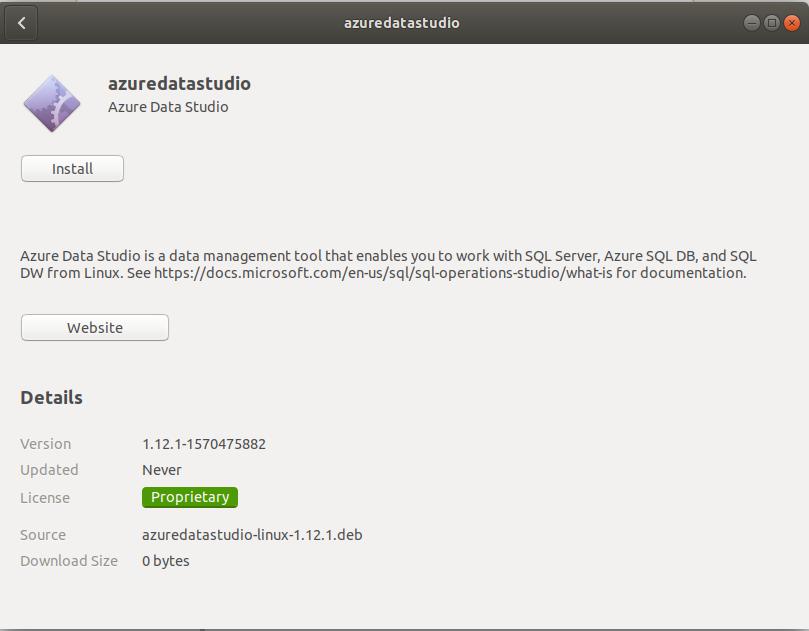 Azure Data Studio Installation Wizard