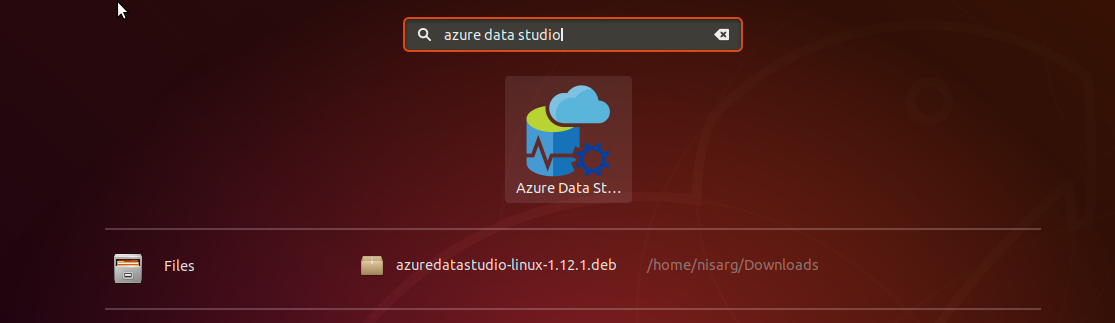 Opening Azure Data Studio