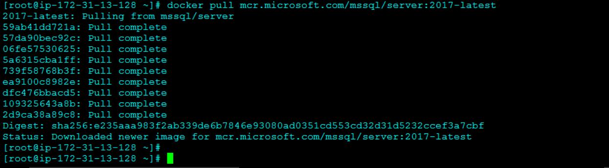 Downloading a SQL Server 2017 Image